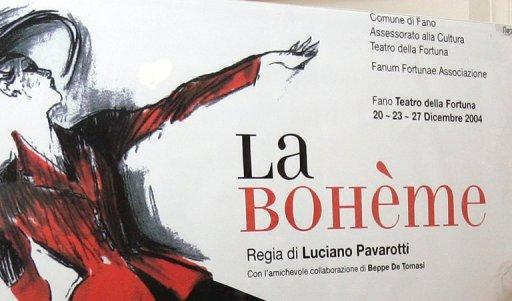 "A poster of the opera production ""La Boheme"""