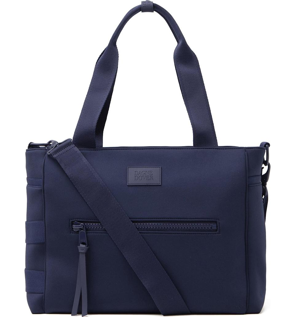 <p>This <span>Dagne Dover Large Wade Diaper Tote</span> ($185) will carry everything your mom needs, and then some.</p>