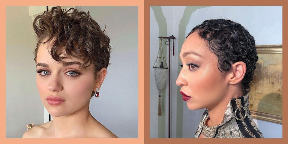 "<p>What do you do when you're stuck between loving your curls and wanting to <a href=""https://www.cosmopolitan.com/style-beauty/beauty/a29858128/how-to-cut-your-own-hair/"" rel=""nofollow noopener"" target=""_blank"" data-ylk=""slk:chop off all your hair"" class=""link rapid-noclick-resp"">chop off all your hair</a> because of pure boredom? You get a curly pixie cut. Truly the best of both worlds, this cropped style has all the ~boldness~ of a <a href=""https://www.cosmopolitan.com/style-beauty/beauty/g26519341/pixie-cut-hairstyles/"" rel=""nofollow noopener"" target=""_blank"" data-ylk=""slk:pixie haircut"" class=""link rapid-noclick-resp"">pixie haircut</a> and all the softness of your natural curls, coils, or waves. And before you say anything about being limited to hairstyles with a super-short length, I've already pulled together 21 examples of curly pixies to show you just how versatile the look can be. So get to scrolling/screenshotting so you can show your stylist at your next appointment—if you even make it to then without cutting all your hair off yourself.</p>"
