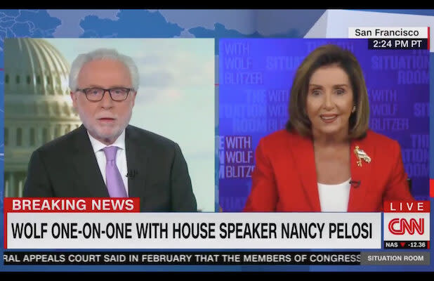 Nancy Pelosi Tells Off CNN's Wolf Blitzer on COVID Stimulus: 'You Don't Know What You're Talking About' (Video)