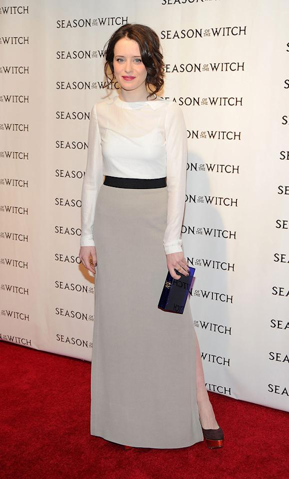"<a href=""http://movies.yahoo.com/movie/contributor/1810122835"">Claire Foy</a> at the New York City premiere of <a href=""http://movies.yahoo.com/movie/1810055815/info"">Season of the Witch</a> on January 4, 2010."