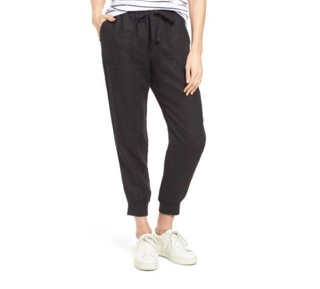 """These <a href=""""https://fave.co/3jjzluQ"""" target=""""_blank"""" rel=""""noopener noreferrer"""">CaslonLinen Joggers</a>are available in three colors and sizes XS to XXL. Find it <a href=""""https://fave.co/3jjzluQ"""" target=""""_blank"""" rel=""""noopener noreferrer"""">on sale for $59</a> (normally $35) at Nordstorm."""