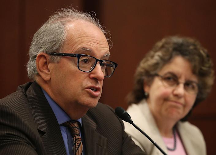 Norm Ornstein, resident scholar at the American Enterprise Institute speaks during the Democratic Policy and Communications Committee hearing in the Capitol building on July 19, 2017 in Washington, DC. (Joe Raedle/Getty Images)