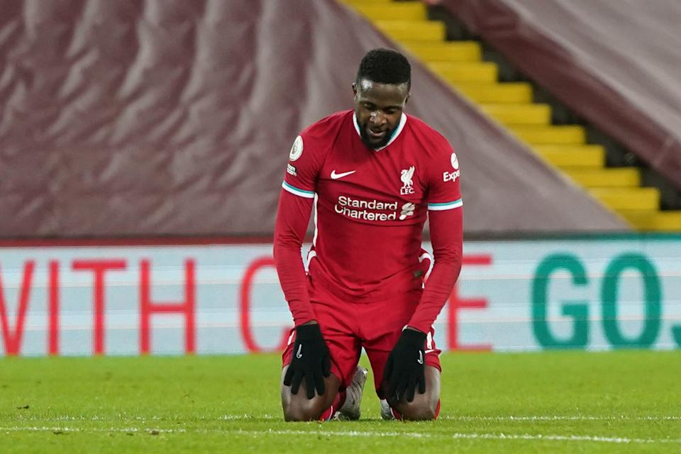 Liverpool striker Divock Origi failed to impress against Burnley (POOL/AFP via Getty Images)