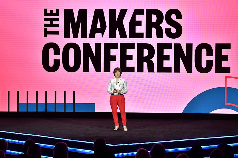 LOS ANGELES, CALIFORNIA - FEBRUARY 12: Brand Director of SK-II Japan YoeGin Chang speaks onstage during The 2020 MAKERS Conference at the InterContinental Los Angeles Downtown on February 12, 2020 in Los Angeles, California. (Photo by Emma McIntyre/Getty Images for MAKERS)