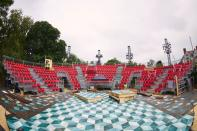 Britain's Royal Shakespeare Company prepares to launch a new garden theatre in Stratford-upon-Avon