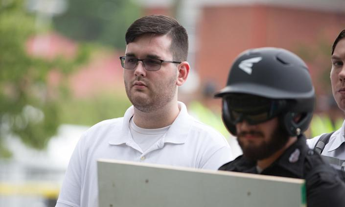"""James Alex Fields Jr. at the """"Unite the Right"""" rally before his arrest in Charlottesville. (Photo: Eze Amos/Reuters)"""