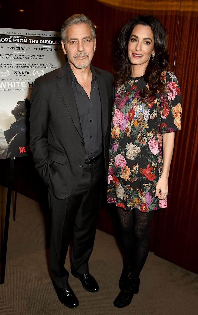 George and Amal Clooney recently attended a Netflix special screening in London, England. (Photo: Getty Images)