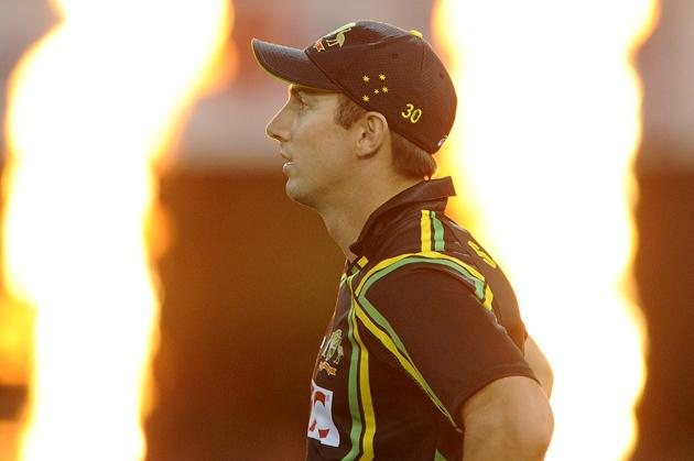 BRISBANE, AUSTRALIA - FEBRUARY 13:  Shaun Marsh of Australia looks on during the International Twenty20 match between Australia and the West Indies at The Gabba on February 13, 2013 in Brisbane, Australia.  (Photo by Matt Roberts/Getty Images)