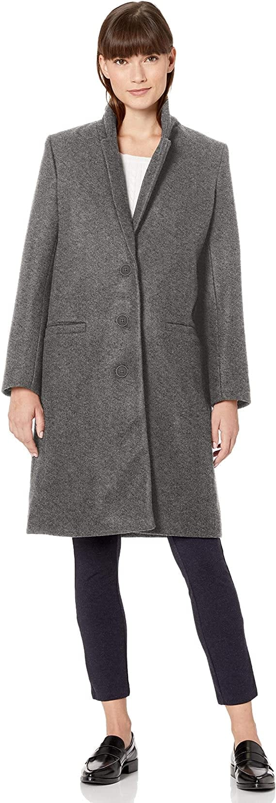 <p>This <span>Amazon Essentials Oversized Plush Button-Front Coat</span> ($60) also comes in black or camel.</p>