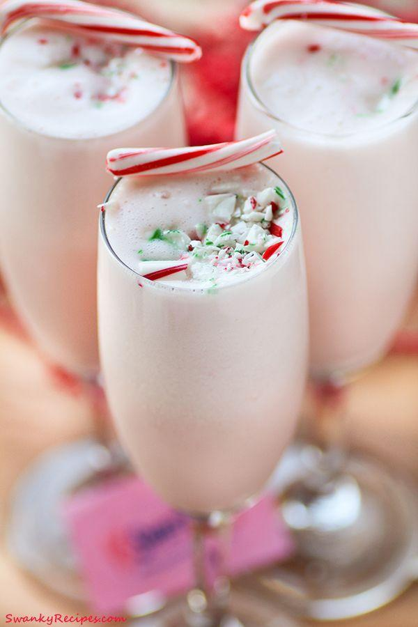 """<p>You can easily keep this minty eggnog kid-friendly or spike it for an adult treat. There's peppermint ice cream and a package of instant vanilla pudding in it for extra richness.</p><p><strong>Get the recipe at <a href=""""https://www.swankyrecipes.com/peppermint-nog-punch.html"""" rel=""""nofollow noopener"""" target=""""_blank"""" data-ylk=""""slk:Swanky Recipes"""" class=""""link rapid-noclick-resp"""">Swanky Recipes</a>.</strong> </p>"""