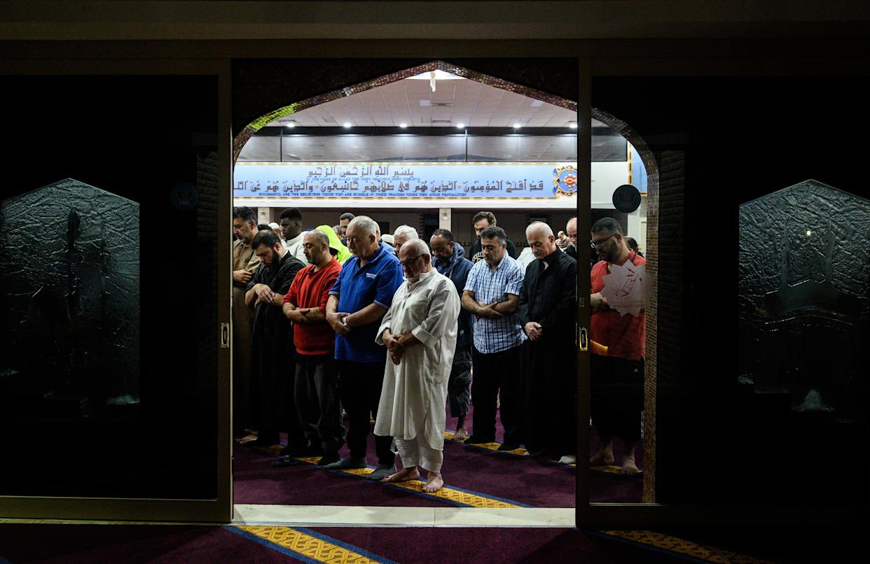 People gather for morning prayers at Lakemba Mosque in the suburb Lakemba on March 16, 2019 in Sydney, Australia. (Photo: James Gourley/Getty Images)