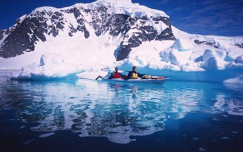 Kayaking in Antarctica with Aurora Expeditions - Credit: Aurora Expeditions
