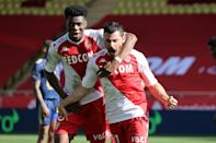 Kevin Volland (R) has scored 13 goals in Ligue 1 for Monaco this season