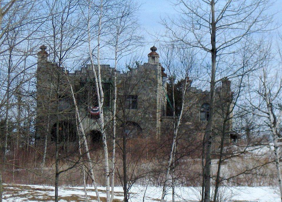 """<p><strong>Kimball Castle - Gilford, NH</strong></p><p>As if the desolate and dilapidated ruins of Gilford's Kimball Castle don't look creepy enough, the rumors of <a href=""""https://www.hauntedrooms.com/10-haunted-places-new-hampshire"""" rel=""""nofollow noopener"""" target=""""_blank"""" data-ylk=""""slk:paranormal phenomena"""" class=""""link rapid-noclick-resp"""">paranormal phenomena</a> occurring on the property make the abandoned private residence that much scarier.</p><p>Photo: Wikimedia Commons/<a href=""""https://en.wikipedia.org/wiki/Kimball_Castle#/media/File:Kimball_Castle.jpg"""" rel=""""nofollow noopener"""" target=""""_blank"""" data-ylk=""""slk:Ken Gallager"""" class=""""link rapid-noclick-resp"""">Ken Gallager</a></p>"""