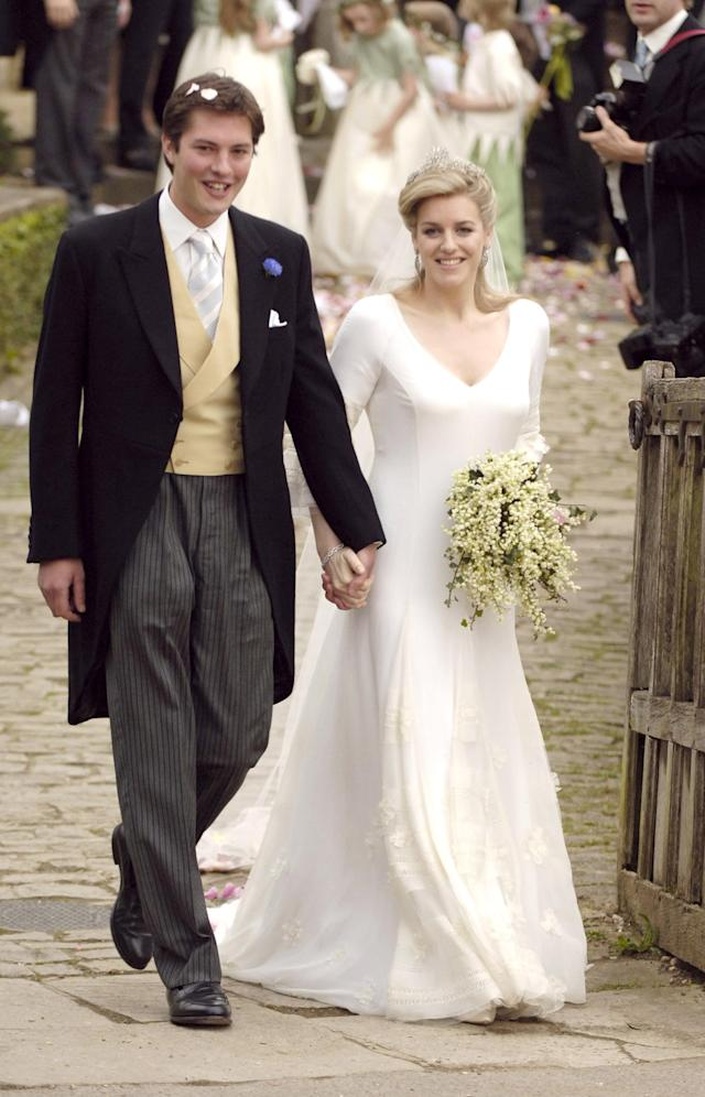 The princes attended stepsister Laura's wedding in 2006. (Photo: Getty Images)