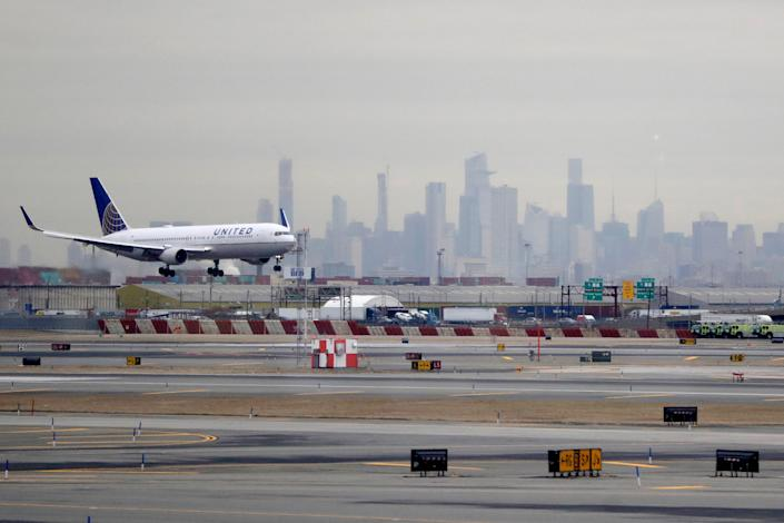 A passenger flying from Newark to San Francisco says his flight was packed, with little opportunity for social distancing.