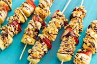"""<p>This fun dessert is a healthy, kid-friendly spin on a classic.</p><p>Get the <a href=""""https://www.delish.com/uk/cooking/recipes/a33122874/banana-split-kebabs/"""" rel=""""nofollow noopener"""" target=""""_blank"""" data-ylk=""""slk:Banana Split Kebabs"""" class=""""link rapid-noclick-resp"""">Banana Split Kebabs</a> recipe.</p>"""