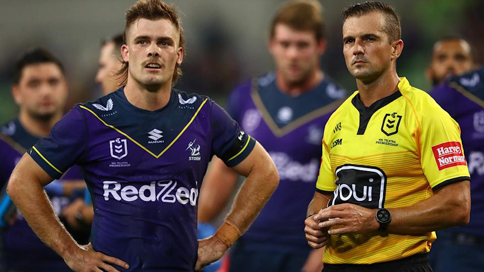 Ryan Papenhuyzen has been ruled out of the Storm's clash with Penrith this weekend. (Photo by Robert Cianflone/Getty Images)