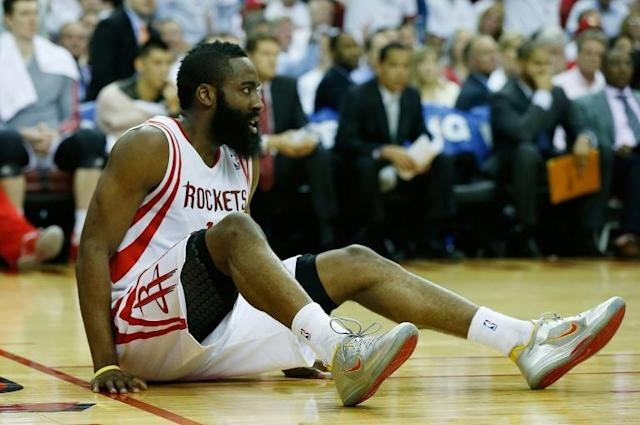 Houston Rockets James Harden took a career high 41 shots from the field against Minnesota and finished with 49 points. (AFP Photo/SCOTT HALLERAN)
