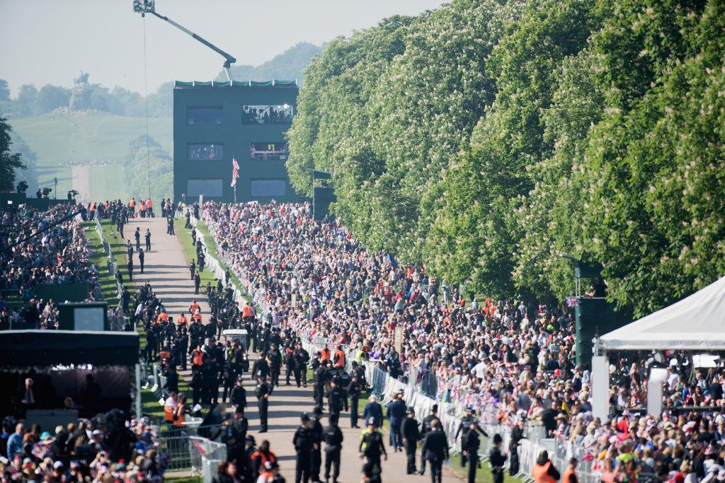 <p>Among the guests were 2,200 members of the public, the royal family, and Markle's mother Doria Ragland. (Photo: Getty) </p>