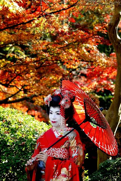 "Kyoto's geishas live in the ""hana-machi"" (flower town) district where little seems to have changed since the 17th century (AFP Photo/Kazuhiro Nogi)"