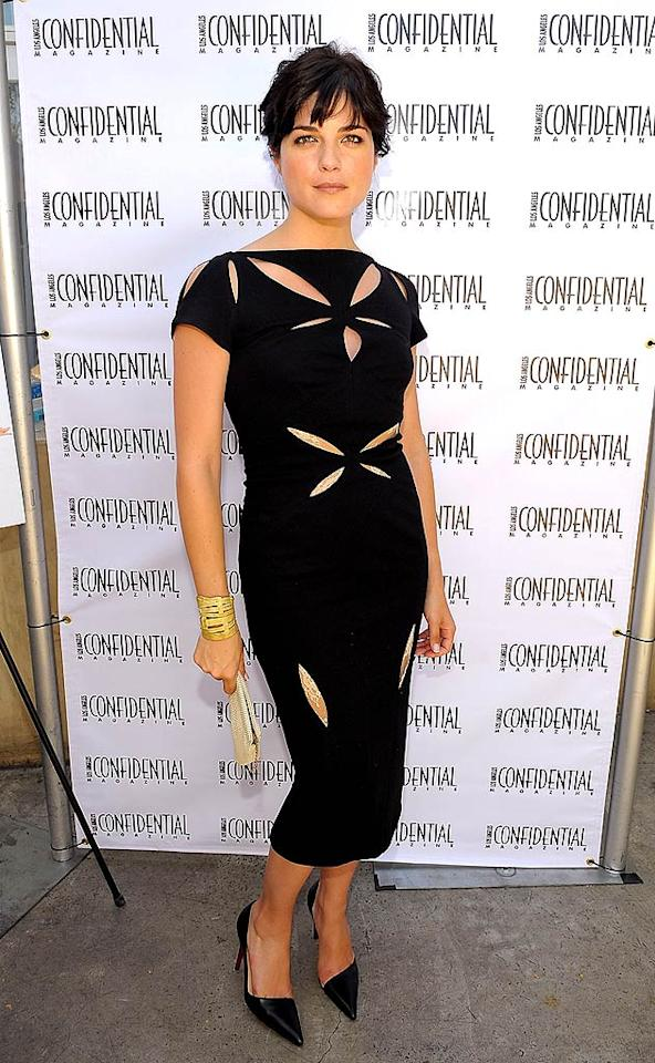 """SMG's """"Cruel Intentions"""" comrade Selma Blair is quickly becoming a style star. This black cocktail dress, complete with strategically-placed cut-outs, is flirty and fabulous. Charley Gallay/<a href=""""http://www.wireimage.com"""" target=""""new"""">WireImage.com</a> - August 24, 2008"""