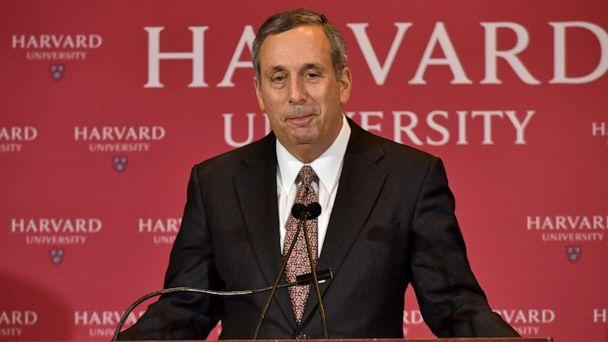 PHOTO: Lawrence Bacow speaks as he is introduced as Harvard University's 29th president during a news conference on February 11, 2018 in Cambridge, Massachusetts. (Paul Marotta/Getty Images)