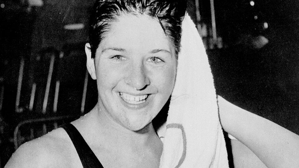 Dawn Fraser, pictured here at the Tokyo Olympics in 1964.