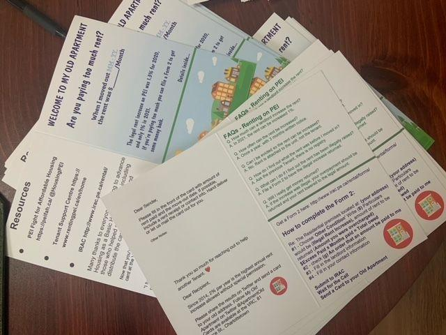 These are the cards Darcie Lanthier is providing for PEI renters. (Photo: Provided by Darcie Lanthier)