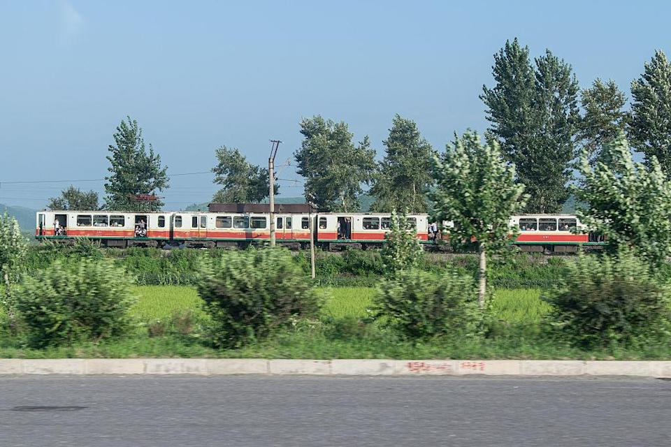 <p>The North Korean train network covers more than 6000km of tracks, and also has some, limited, international links to China and Russia. (Getty) </p>