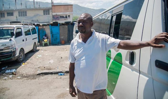 Destinos Boursiquot, 50, a bus driver in Haiti, laments the insecurity he and other drivers face.