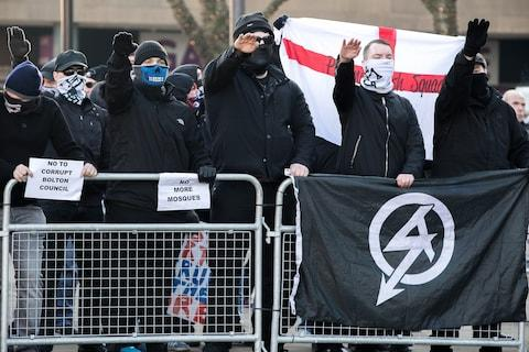 Members of neo-Nazi organisation National Action - Credit: Joel Goodman/LNP