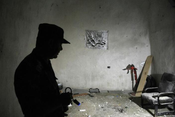 The caves are believed to have been mainly used by fighters from jihadist groups (AFP Photo/Maxime POPOV)