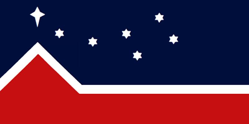 The flag designed for the Western Separatist Party in 1988. (Photo: Wikimedia Commons)