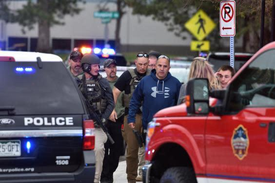 Police at the scene of a deadly shooting at Stem Highlands Ranch school (Getty Images)