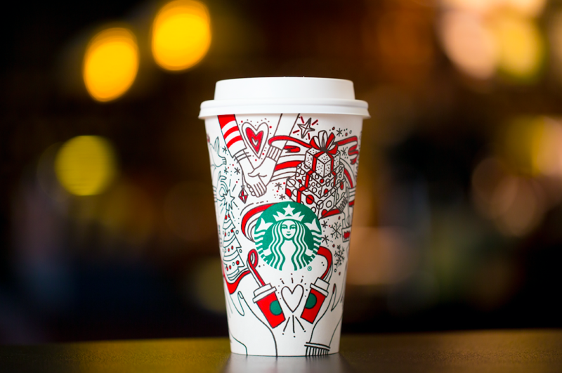 Ready to fill up with Chestnut Praline Latte, Caramel Brulée Latte and Peppermint Mocha!  (Starbucks)