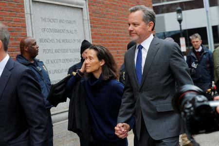 William McGlashan Jr., a Senior Executive at TPG private equity firm facing charges in a nationwide college admissions cheating scheme, arrives at the federal courthouse in Boston, Massachusetts, U.S., March 29, 2019. REUTERS/Brian Snyder