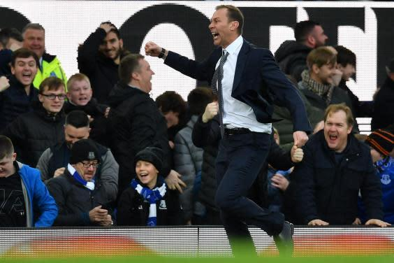 Duncan Ferguson celebrates Everton's third goal (Getty)