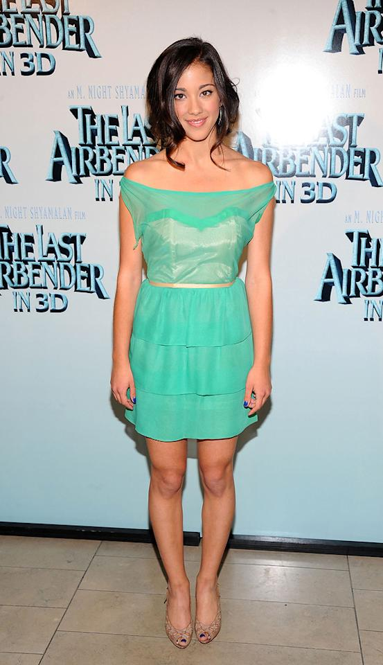 """Seychelle Gabriel at the New York City premiere of <a href=""""http://movies.yahoo.com/movie/1810071569/info"""">The Last Airbender</a> - 06/30/2010"""