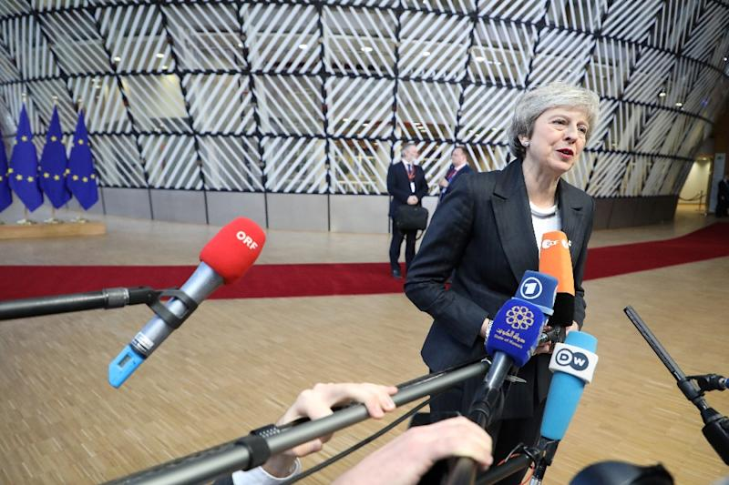 Britain's Prime Minister Theresa May is focussed on salvaging her plan for an orderly Brexit and on persuading her European counterparts to offer guarantees Britain will not remain trapped indefinitely in the EU customs union (AFP Photo/LUDOVIC MARIN)