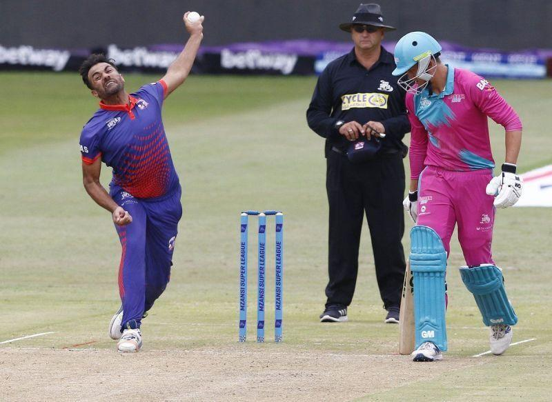 Wahab Riaz picked up two crucial wickets tonight for the Cape Town Blitz.
