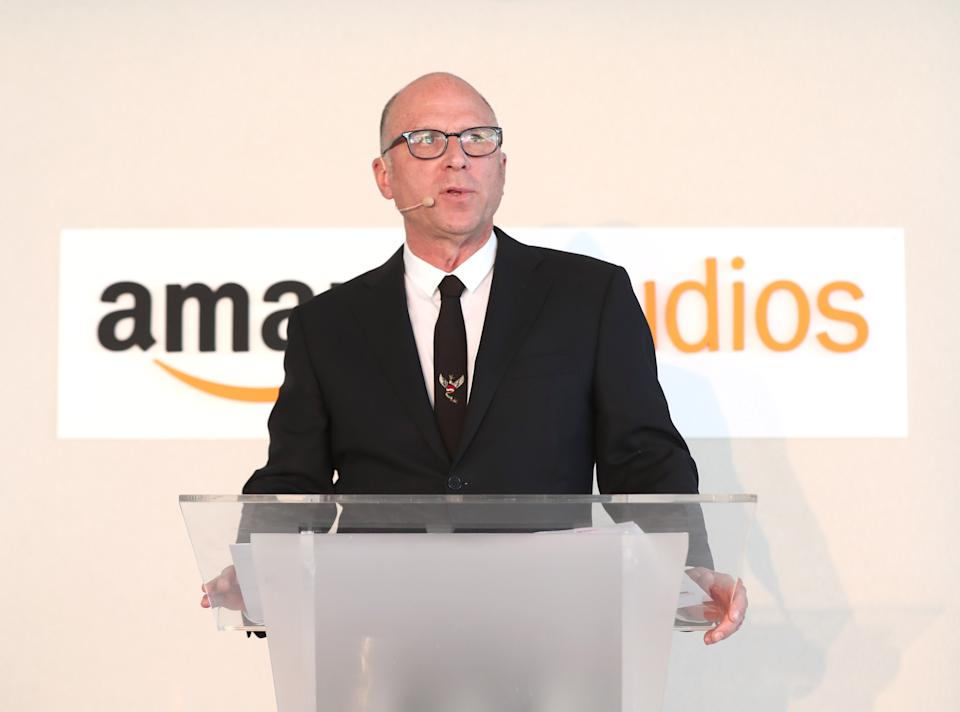 CANNES, FRANCE - MAY 21:  Amazon Studios' Head of Movie Marketing & Distribution Bob Berney speaks at the Amazon Studios International Presentation at The 2017 Cannes Film Festival on May 21, 2017 in Cannes, .  (Photo by Todd Williamson/Getty Images for Amazon Studios)