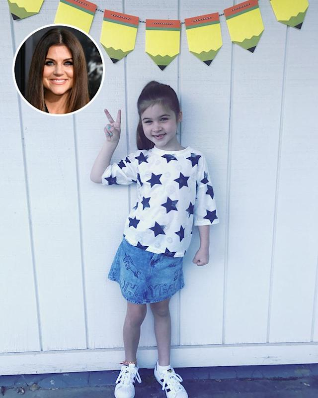 "<p>""First day of 2nd grade!"" wrote Tiffani Thiessen. ""Harper, you are kind, sweet, caring, smart, silly and fun and you make your daddy and I so proud. #firstdayofschool #2ndgrade #gogetemtiger."" (Photos: <a href=""https://www.instagram.com/p/BYq2LeQHOPO/?hl=en&taken-by=tiffanithiessen"" rel=""nofollow noopener"" target=""_blank"" data-ylk=""slk:Tiffani Thiessen via Instagram"" class=""link rapid-noclick-resp"">Tiffani Thiessen via Instagram</a>/Getty Images) </p>"