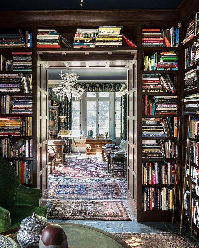 "<p>Richard McGeehan makes use of his client's extensive book collection, lining the library with walnut bookshelves to house an array of tomes. </p><p><a class=""link rapid-noclick-resp"" href=""https://www.elledecor.com/design-decorate/house-interiors/a8979/ferncliffe-estate/"" rel=""nofollow noopener"" target=""_blank"" data-ylk=""slk:TOUR THE HOME"">TOUR THE HOME</a></p><p><a href=""https://www.instagram.com/p/CIrNWH9AUOe/"" rel=""nofollow noopener"" target=""_blank"" data-ylk=""slk:See the original post on Instagram"" class=""link rapid-noclick-resp"">See the original post on Instagram</a></p>"