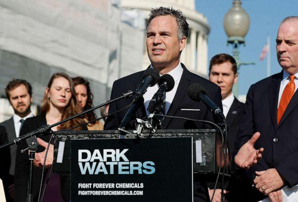 PHOTO: Actor and activist Mark Ruffalo speaks at the Fight Forever Chemicals Campaign kick off event on Capitol Hill in Washington, Nov. 19, 2019. (Paul Morigi/Getty Images, FILE)