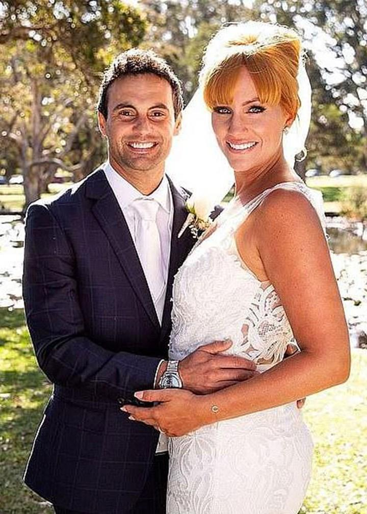 Photo: Nine MAFS Jules Cam all-star return mafs bridal shoot