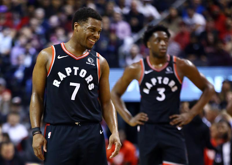 Kyle Lowry and the Raptors were enjoying an unlikely and inspiring title defense. (Vaughn Ridley/Getty Images)