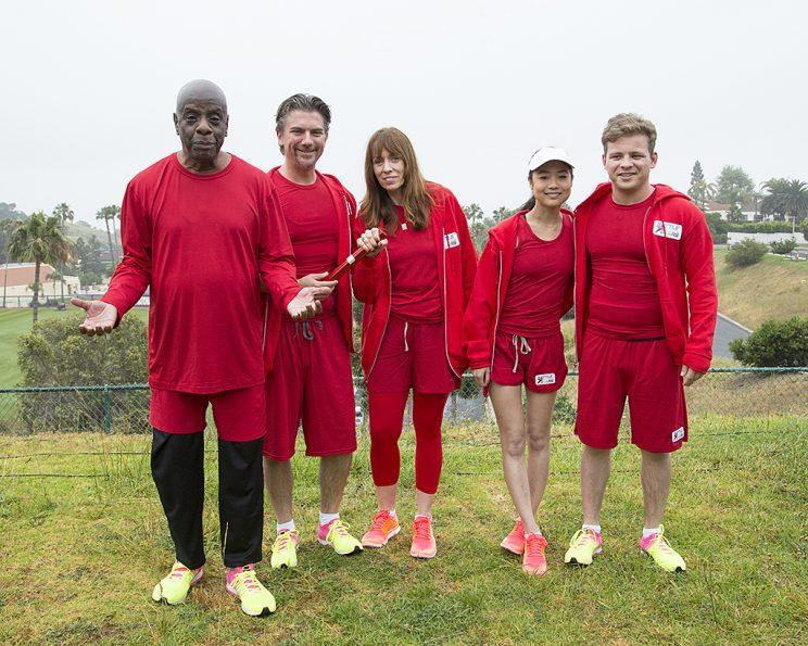 Jimmie Walker, Jeremy Miller, Mackenzie Phillips, Krista Marie Yu and Jonathan Lipnicki on ABC's Battle of the Network Stars. (Photo Credit: ABC)