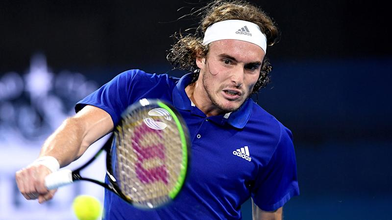 Stefanos Tsitsipas, pictured here at the ATP Cup in January.